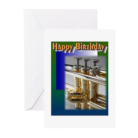 Happy Birthday Trumpet Greeting Cards (Pk of 10)