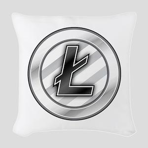 Litecoin Woven Throw Pillow