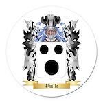 Vasile Round Car Magnet