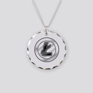 Litecoin Necklace Circle Charm