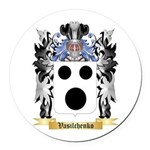 Vasilchenko Round Car Magnet