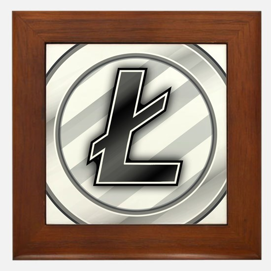 Litecoin Framed Tile
