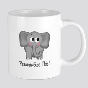 Cute Elephant Personalized Travel Mugs