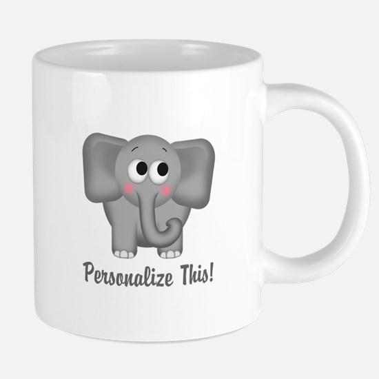 Cute Elephant Personalized Travel Mugs