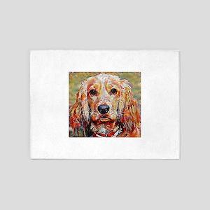 Cocker Spaniel: A Portrait in Oil 5'x7'Area Rug
