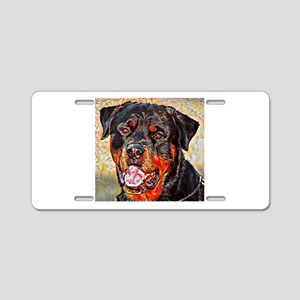 Rottweiler: A Portrait in O Aluminum License Plate