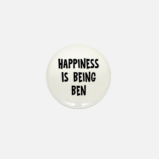 Happiness is being Ben		 Mini Button (10 pack)