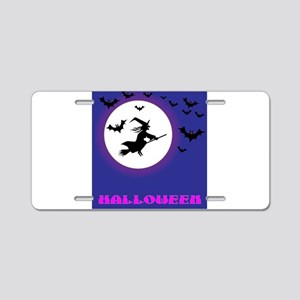 Full Moon Witch Aluminum License Plate