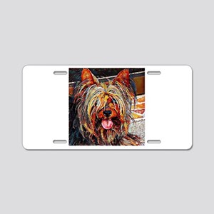 Yorkshire Terrier: A Portra Aluminum License Plate