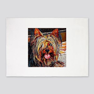 Yorkshire Terrier: A Portrait in Oi 5'x7'Area Rug
