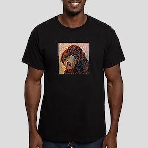 Standard Poodle: A Por Men's Fitted T-Shirt (dark)