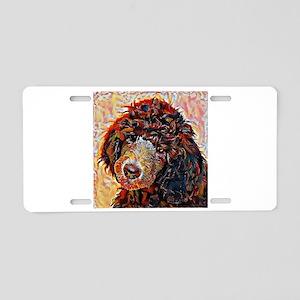 Standard Poodle: A Portrait Aluminum License Plate