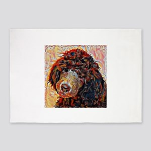 Standard Poodle: A Portrait in Oil 5'x7'Area Rug