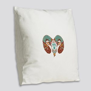 Aries zodiac sign Burlap Throw Pillow