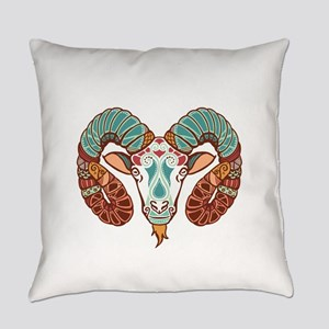 Aries zodiac sign Everyday Pillow