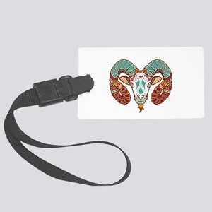 Aries zodiac sign Large Luggage Tag