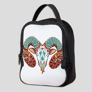 Aries zodiac sign Neoprene Lunch Bag