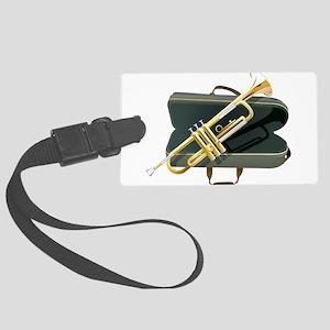 Golden Trumpet kit art Large Luggage Tag