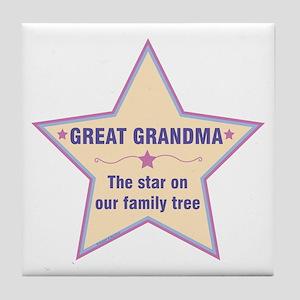 Great Grandma Star Tile Coaster