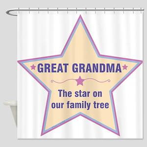 Great Grandma Star Shower Curtain