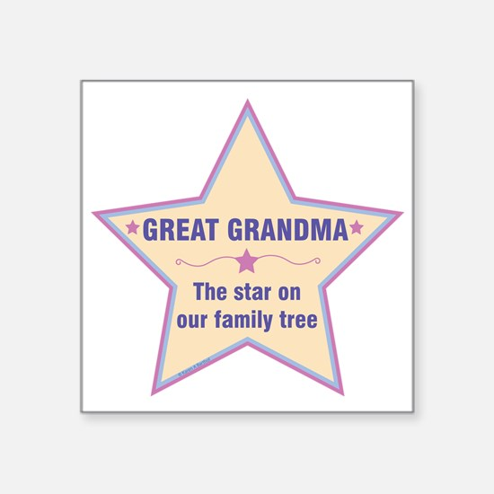Great Grandma Star Sticker