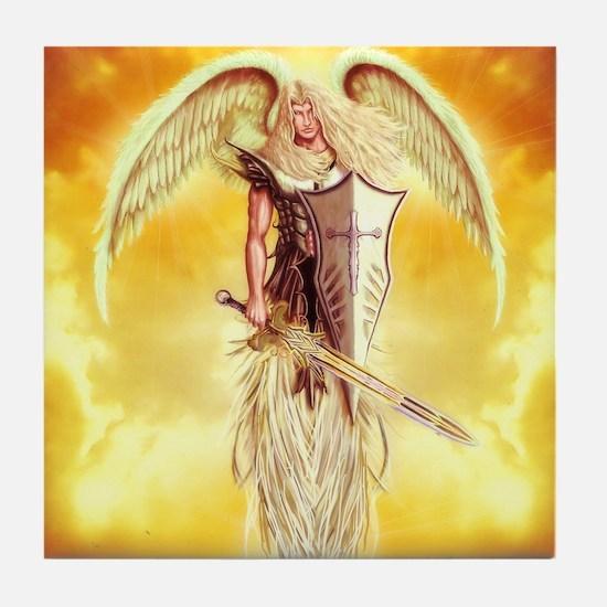 angel michael Tile Coaster