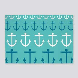 Anchor Pattern 5'x7'Area Rug
