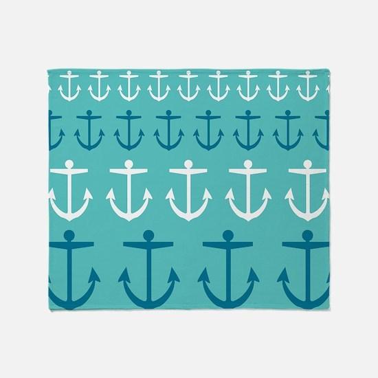 Anchor Pattern Throw Blanket