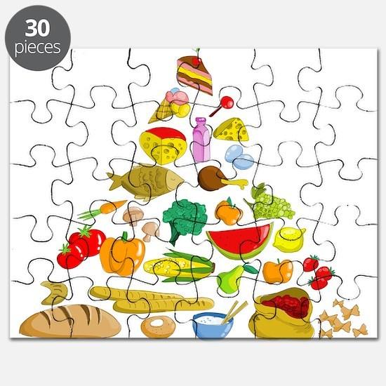 Food pyramid design art Puzzle
