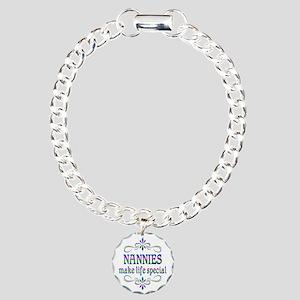 Nannies Make Life Specia Charm Bracelet, One Charm