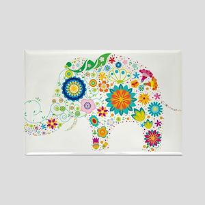 Cute elephant floral design Magnets
