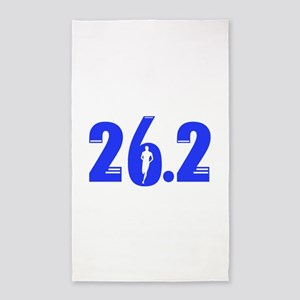 26.2 run blue Area Rug