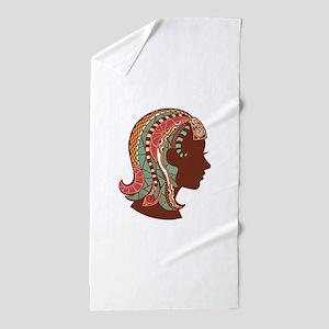 Virgo zodiac sign Beach Towel
