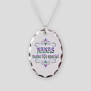 Nanas Make Life Special Necklace Oval Charm