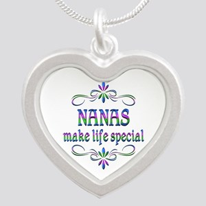 Nanas Make Life Special Silver Heart Necklace