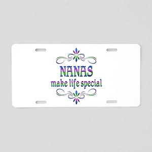 Nanas Make Life Special Aluminum License Plate