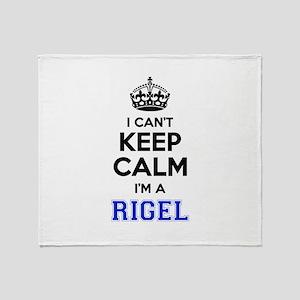 I can't keep calm Im RIGEL Throw Blanket