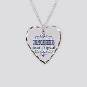 Granddaughters Make Life Spec Necklace Heart Charm