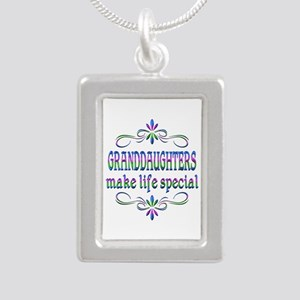 Granddaughters Make Life Silver Portrait Necklace