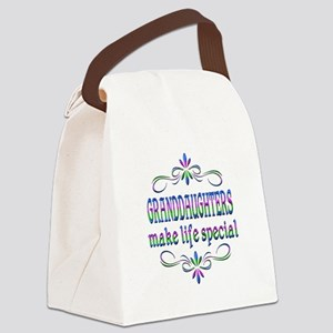 Granddaughters Make Life Special Canvas Lunch Bag