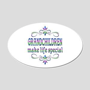 Grandchildren Make Life Spec 20x12 Oval Wall Decal