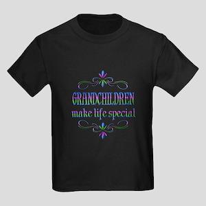 Grandchildren Make Life Special Kids Dark T-Shirt
