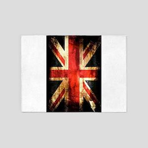 British UK Flag Grunge Vintage 5'x7'Area Rug