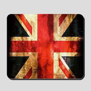 British UK Flag Grunge Vintage Mousepad