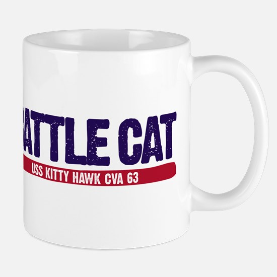 Battle Cat Uss Kitty Hawk Cva 63 Mug Mugs