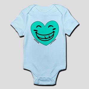 Personalized Heart Silly Grin Body Suit