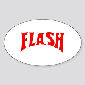 Flash Oval Sticker