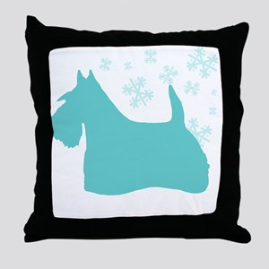 Scottie Snowflake Throw Pillow