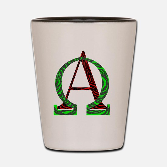 Greek letters Shot Glass