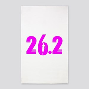 26 2 marathon pink Area Rug